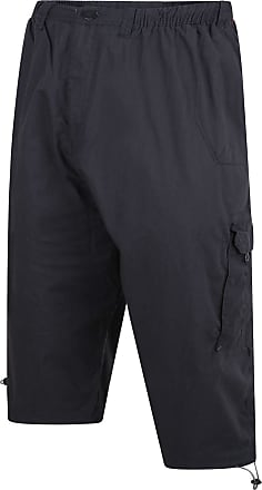 Espionage Mens Big Size Three Quarter Length Ripstop Cargo Shorts (047) Blue