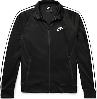 Nike Sportswear N98 Webbing-trimmed Tech-jersey Track Jacket - Black