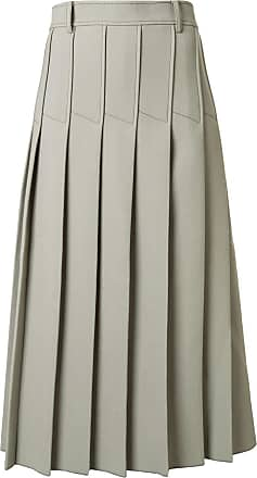 Dion Lee column pleated midi skirt - Green