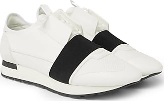 87a8555f2d4 Balenciaga Race Runner Leather, Neoprene, Suede And Mesh Sneakers - White