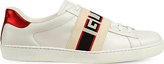 Gucci Tênis de couro com logo - Branco