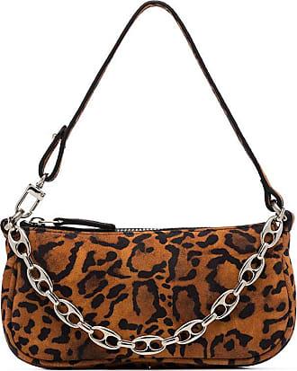 by FAR Bolsa Rachel mini de camurça com estampa de leopardo - Marrom