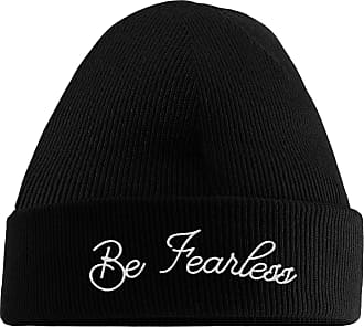 HippoWarehouse Be Fearless Embroidered Beanie Hat Black