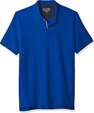 Nautica Mens Classic Short Sleeve Solid Polo Shirt, Bright Cobalt, Medium