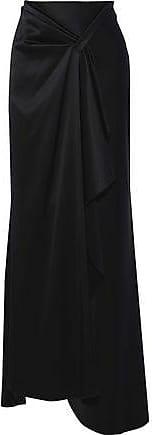 Elie Tahari Elie Tahari Woman Pleated Satin-crepe Maxi Skirt Black Size 0