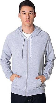 American Apparel Mens California Fleece Long Sleeve Zip Hoodie
