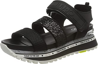 Liu Jo Womens Liu Jo Wonder Maxi 07-Sandal Open Toe, Black (Black 22222), 5 UK