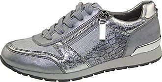 810e05ad4aab10 Tom Tailor 4894105 Leichter Damen Sneaker Low-Top Halbschuh Glitzer  Metallic Gr.37-