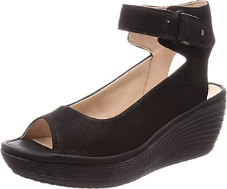 b33e5e30f1a Clarks Reedly Willow Nubuck Sandals in Black Standard Fit Size 5