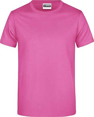 James & Nicholson Mens Basic T-Shirt (5XL) (Pink)