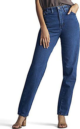 Lee Womens Missy Relaxed-Fit Side Elastic Tapered-Leg Jean, Pepper Stone, 6 Long