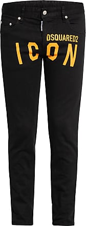 Dsquared2 Jeans ICON Skinny Fit - 970 BLACK/ ORANGE