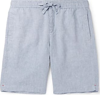 Orlebar Brown Slim-fit Linen-chambray Drawstring Shorts - Blue