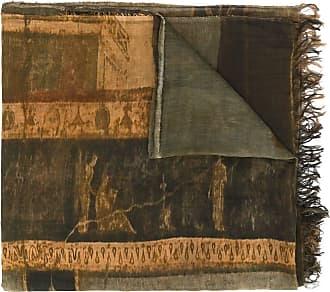 Uma Wang faded print scarf - Brown