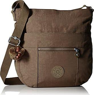 Kipling Bailey Soft Earthy Beige Tonal Saddle Bag Handbag, t