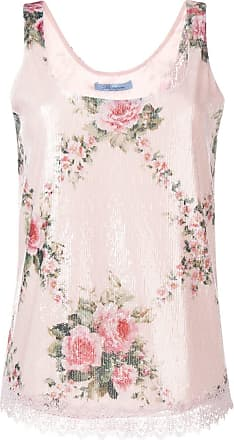 Blumarine Regata floral com paetês - Rosa