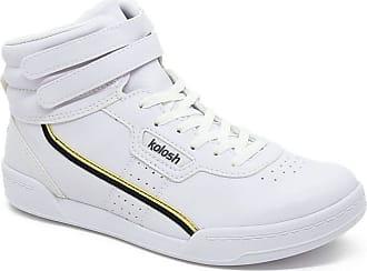 Kolosh Tênis Kolosh Cano Alto Feminino Casual C1661 Branco