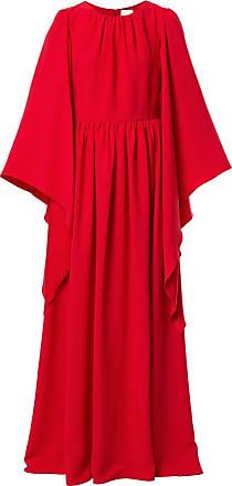 Ingie Paris Vestido kaftan longo com drapeado - Vermelho