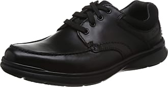 Clarks Cotrell Edge Leather Shoes in Wide Fit Size 9.5 Black