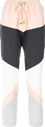 OLYMPIAH panelled straight trousers - Multicolour