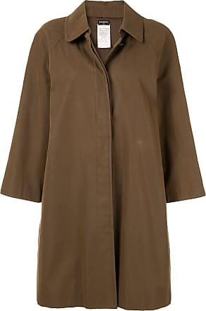 Chanel Long Sleeve Coat Jacket - Brown