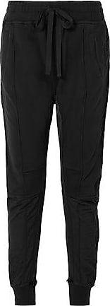 Haider Ackermann Haider Ackermann Woman Grosgrain-trimmed Cotton-jersey Track Pants Black Size XS