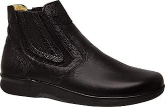Doctor Shoes Antistaffa Botina Masculina Esporão 3054 em Couro Floater Preto Doctor Shoes-Preto-37