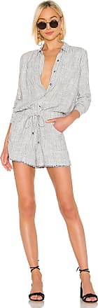 Splendid Railroad Stripe Romper in Gray