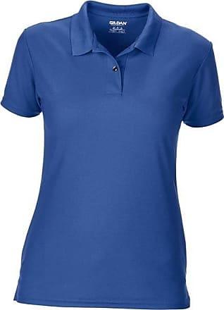 Gildan Womens Performance Double Pique Polo Shirt Royal