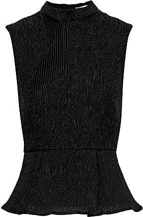 Erdem Erdem Woman Hilda Plissé-jacquard Peplum Top Black Size 14