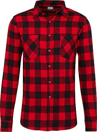 Urban Classics Hemd Checked Flanell rot / schwarz