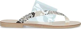 Kurt Geiger KG Size 5 - Sandals Womens Snake Rixie Print Perspex Flat Ladies Designer Sandals