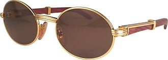 cfa5e0648a Cartier Giverny New Gold And Wood 49 20 Full Set Brown Lens France  Sunglasses