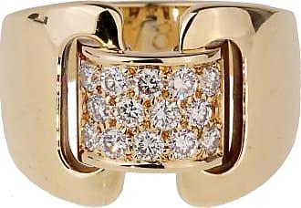 Hermès Diamond Yellow Gold Cocktail Ring