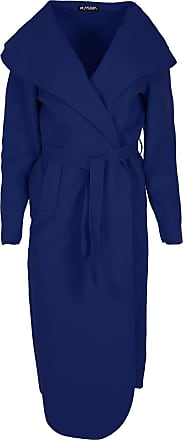 Be Jealous Women Tie Belt Maxi Duster Trench Coat Cardigan Navy Plus Size UK 16