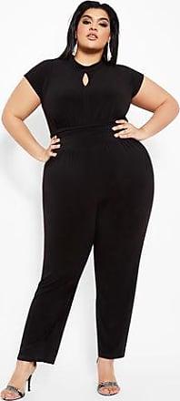 0b93c29458f Ashley Stewart Plus Size Cap Sleeve Cummerbund Waist Jumpsuit