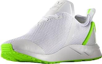 adidas Originals ZX Flux ADV Asymmetrical Shoes Mens Trainers AQ3166 - White/Green (11 UK)