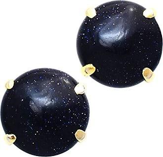 Tinna Jewelry Brinco Dourado Pedra Da Lua