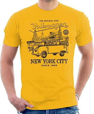 Volkswagen Camper New York City Mens T-Shirt Gold