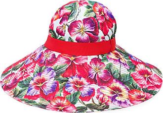Dolce & Gabbana Cappello estivo a tesa larga - Di colore rosso