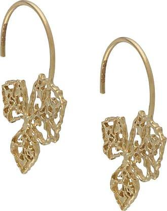 Natalie Perry Jewellery Par de brincos de argolas em ouro 9k - Dourado