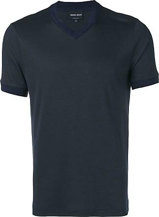Giorgio Armani V-neck T-shirt - Blue