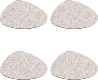 Hey-Sign Stone Tischset 4er Set 44x38cm - grau hellmeliert/Filz in 5mm Stärke/LxBxH 44x38x0.5cm