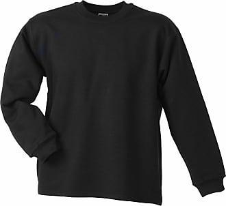 James & Nicholson JN199 Round Neck Open Hem Sweatshirt Black Size XXL