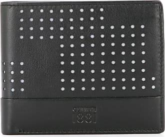 Cerruti punch hole detailed bifold wallet - Black