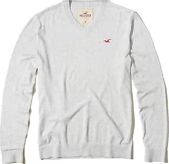 Hollister New by Abercrombie Heather Off-White Mens Sweater Jumper SZ Small/S