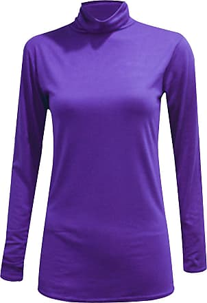ZEE FASHION New Ladies Long Sleeve Turtle Polo Neck Top Womens Jumper 8-26