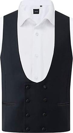 Dobell Mens Navy Tuxedo Waistcoat Regular Fit Double Breasted-S (34-36in)