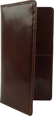 Visconti Mens Italian Leather Slim Suit Wallet Monza Collection Classic Gift Boxed Brown