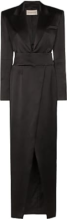 Alexandre Vauthier Vestido longo estilo blazer - Preto